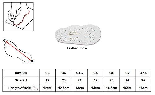 Renbut Zapatillas de tela para bebé flor, a cuadros Talla:6 ( 23 EU ) flor, a cuadros