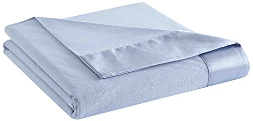 Thermee Micro Flannel Year-Round Sheet Blanket, English Blue, Full/Queen