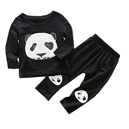 7f7a0aef3 JPOQW Newborn Toddler Infant Baby Girl/Boy Panda Tops+Pants 2PCS/Set ...