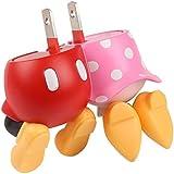 ディズニー キャラクター 2ポート USB充電器 AC充電器 ACアダプタ USB 2A / ミッキーマウス&ミニーマウス / おしり