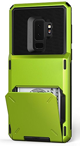 Galaxy S9 Plus Wallet Case :: VRS :: Full Body Protective Armor :: Hybrid Card Slot Holder :: ID Credit Card Travel Wallet for Samsung Galaxy S9 Plus (Damda Folder - Lime Green) by V VRS DESIGN