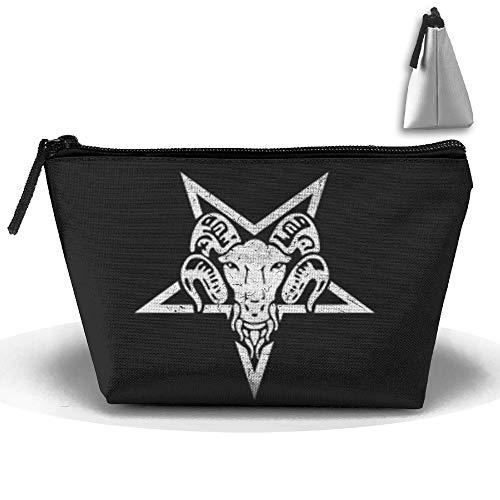 Louise Morrison Goth Goat Pentagram Pen Stationery Pencil Case Cosmetic Makeup Bag Pouch