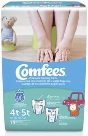 55463100 Toddler Training Pants Comfees Pull On 4T - 5T Disposable Moderate Absorbency
