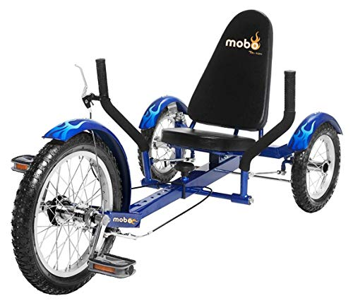 Mobo Triton Recumbent Trike. Kids 3-Wheel Bike. Youth Cruiser Tricycle