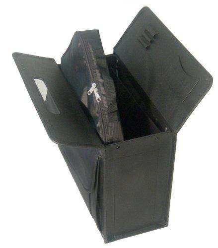 Black Leather Wheeled Catalog Case #1855-0