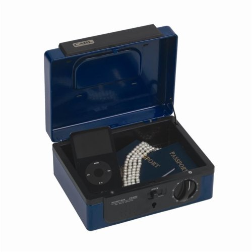 Blue Carl Heavy Duty Dual Combination Cash Box Small