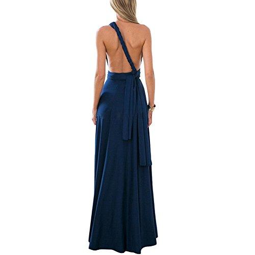 Elegante scuro Chic spalline S Nude Variety Gonna XL Blu Evening senza di Dress femminile Gonna Feelingirl Elegante Backless gw7qAOfx1T