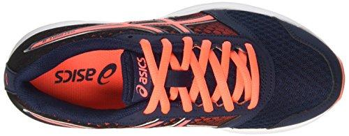 Asics Patriot 8 W, Zapatillas de Running Mujer Azul (Dark Navy/Flash Coral/White)