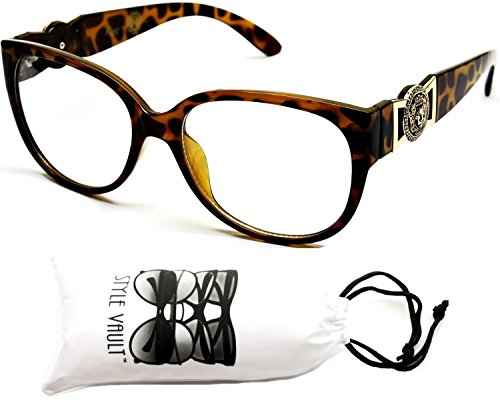 Braid Clear Brown - E3000-VP Style Vault Hip Hop Clear Lens Eyeglasses Sunglasses (5356 Tortoise Brown/Gold-Clear)