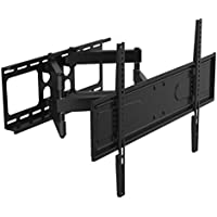 Husky Mounts Dual Arm Full Motion TV Wall Mount. Tilt Swivel Articulating TV Bracket. Fits Most 37 - 70 Inch LED LCD Plasma Flat Screen with VESA up to 600X400 (up to 24x16 Pattern) 100 Lbs Capacity