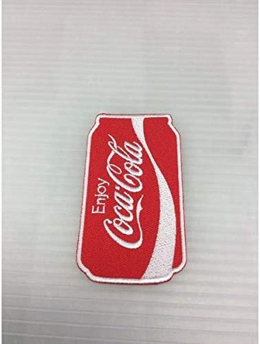 COKE 刺繍ワッペン (CC-E8:Coca-Cola 缶) アイロンワッペン 刺繍、エンブレム オシャレ アップリケ 人気