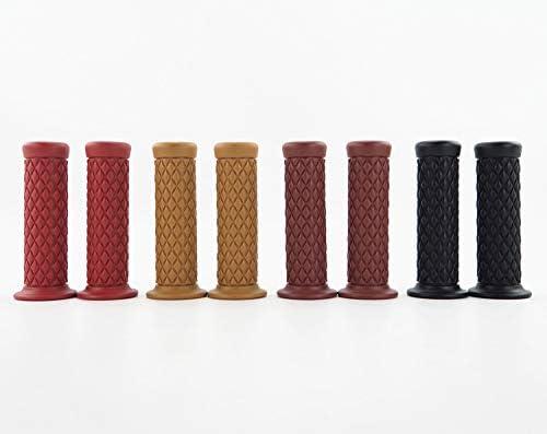 elegantstunning Lot de 2 poign/ées de Guidon en Caoutchouc 22 mm pour Moto Camel v/élo caf/é