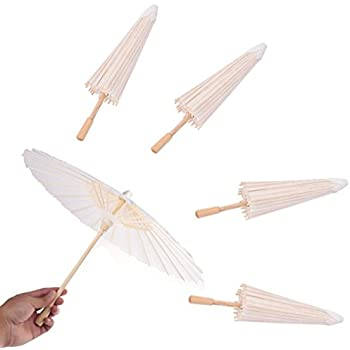 a773d0eabf85 Amazon.com: WSSROGY Pack of 5 Mini Colorful Nylon Umbrella for Kids ...