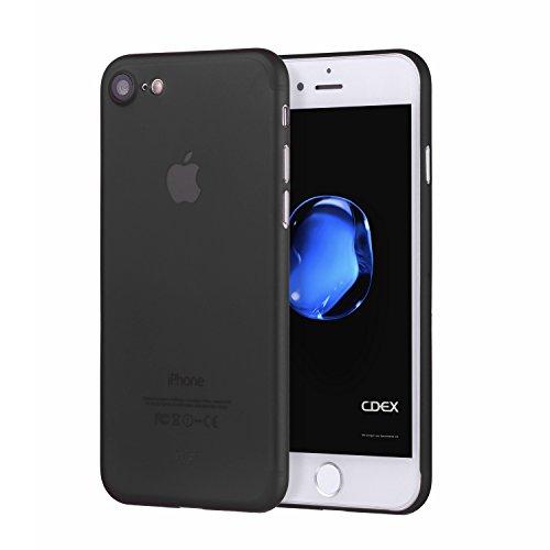 doupi UltraSlim Case für Apple iPhone 7 FeinMatt FederLeicht Hülle Bumper Cover Schutz Tasche Schale Hardcase, schwarz
