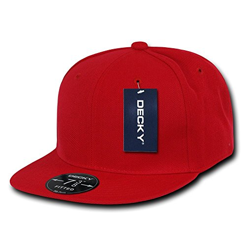 DECKY Retro Fitted Cap, Red, 7 3/8