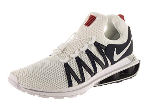 Nike Men's Shox Gravity White/Metallic Silver/White Running Shoe 12 Men US (Nike Shox Nz Mens Black And White)