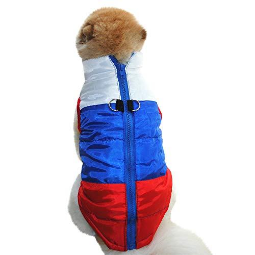 Geetobby Cat Dog Zipper Coat Jacket Vest Pet Supplies Winter Warm Puppy Costume