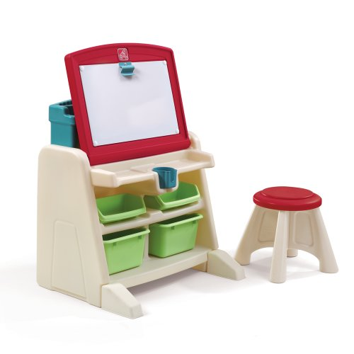 Step2  Flip and Doodle Desk with Stool Easel Step 2 Write Desk
