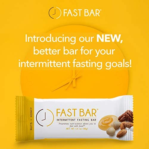 Fast Bar , Nuts & Honey, Gluten Free, Plant Based Protein Bar For Weight Management & Intermittent Fasting (10 Count Box) 2