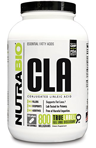 NutraBio CLA (800mg) - 500 Softgels