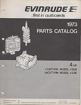 1973 evinrude outboard motor lightwin yachtwin 4 hp parts manual rh amazon com Yamaha 4 HP Outboard Motor Honda 4 HP Outboard Motor