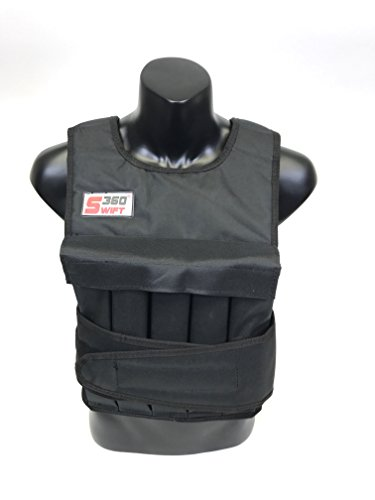 Swift360 Weighted Vest for Men 20/40lbs Adjustable Female Fitness Gear Cross fit Training Workout Black