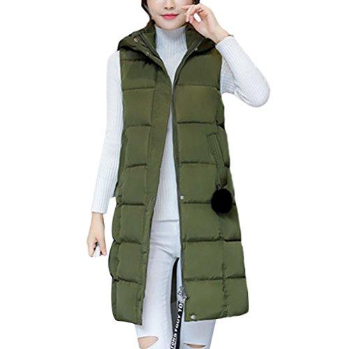 囲まれたに関して共同選択Zhuhaitf 暖かく保つ European and American Style Long Hooded Vest Slim Jackets Tops Cotton Comfortable for Women