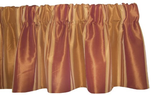 RLF HOME Euro Stripe Valance, Orange