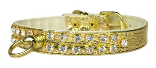 Mirage Pet Products No.31 Dog Collar, 16-Inch, Gold
