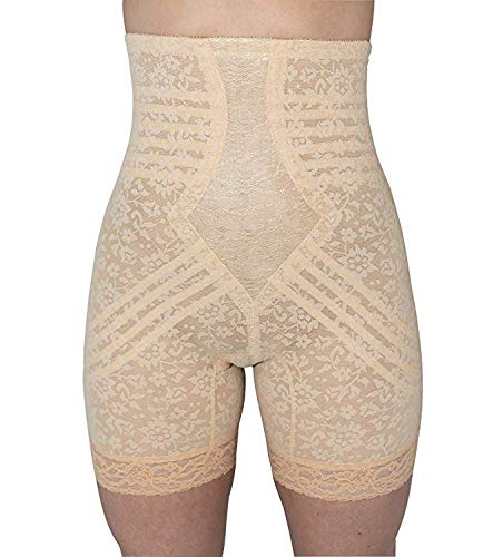 Rago Women's Hi Waist Long Leg Shaper, Beige, Large (30)