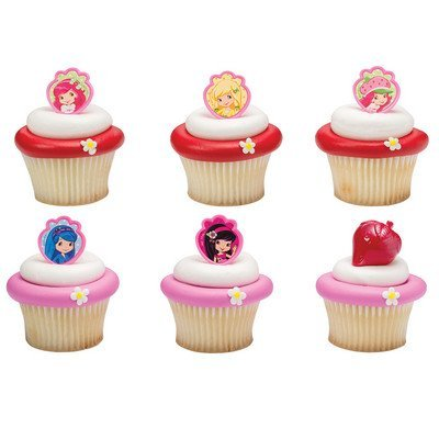 (Strawberry Shortcake Friends Forever Cupcake Rings - 24 pc)