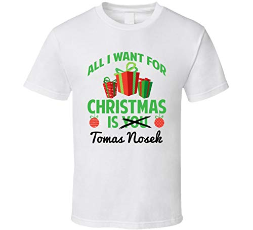 All I Want for Christmas is Tomas Nosek Vegas Hockey Funny Fan T Shirt M White