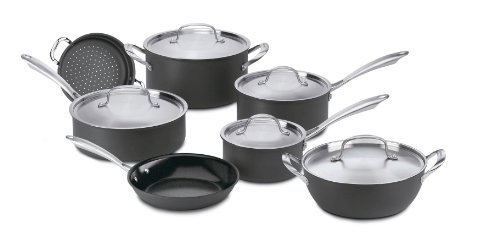 Cuisinart GG-12 GreenGourmet Hard-Anodized Nonstick 12-Piece Cookware Set ()