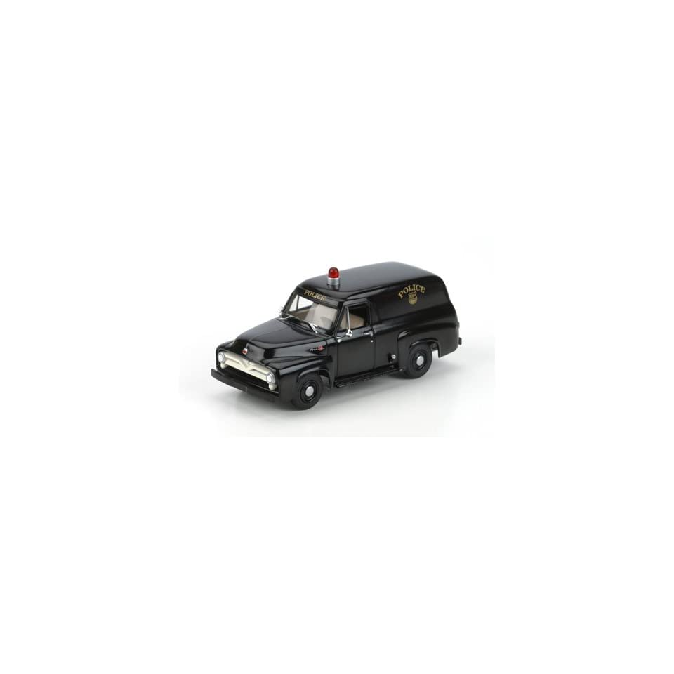 1/50 Die Cast Ford F 100 Panel Truck, Police/Black ATH90969