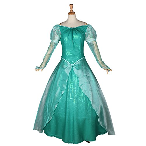 CosplayDiy Women's Costume Dress for The Little Mermaid Adult Ariel Cosplay XXL Green (Ariel Little Mermaid Costume For Adults)