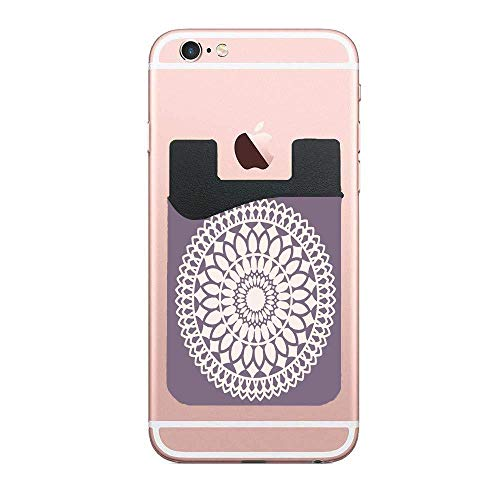 (Cellcardphone Beige Moroccan Beautiful Lace Dollie Doily Dolly Crochet Ivory Classic Applique Tatting Premium Cell Phone Card Holder Sticker Firmly Mobile Cell Phones 2 PCS)