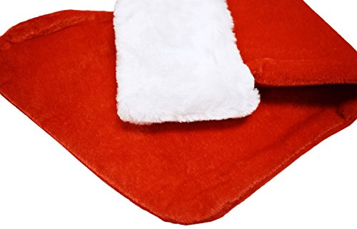 Set of 24 Christmas 19'' Red Velvet Stockings W/ White Plush Cuff & Hanging Tag (24) by Black Duck Brand (Image #2)