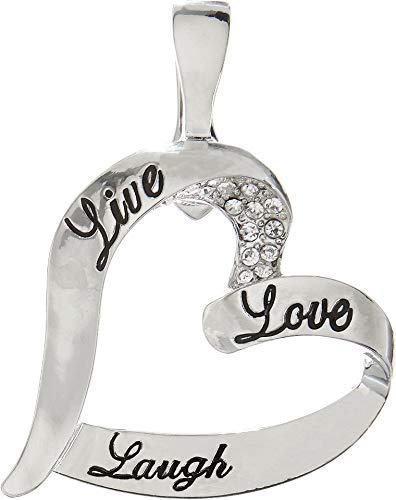- Wearable Art by Roman Open Heart Pendant One Size Silver Tone