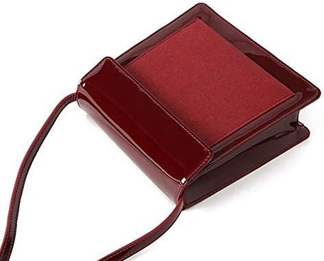 Il Brevetto Borsa In Pelle Rossa Retrò Borsa Messenger Bag Nuova Ciliegia Piccolo Pacchetto Quadrato