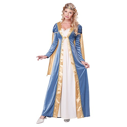 California Costumes Women's Elegant Empress Renaissance Lady Gown, Blue, X-Small -