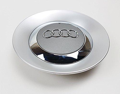 Juego de 4 tapas centrales con nuevo logotipo para tapacubos de rueda con llanta de aleación de 16 pulgadas 8E0601165 [2001-2004]: Amazon.es: Coche y moto
