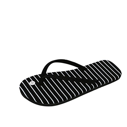 Polka Dot Ankle Strap (Women Flip Flops Slippers Daoroka Summer Light Weight Flat Polka Dot Sandals Casual Soft Cute Beach Indoor & Outdoor Shoes (US:8.5, Black2))