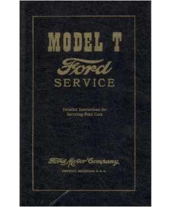 amazon com 1909 1924 1925 1926 1927 ford model t shop service rh amazon com Parts Manual Chilton Manuals