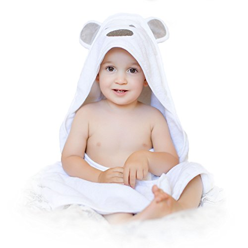 Luxury Baby Hooded Towel Thick and Soft, Extra Large 35 x 35