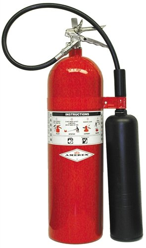 Amerex 331, 15lb Carbon Dioxide Class B C Fire - Oxygen Carbon Dioxide