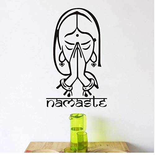 - WYTTT Pattern of Indian Yoga Wall Stickers for Home Decor Text Room Living Room Sofa Table Background Vinyl Waterproof Room Decoration 42X68Cm Wall Sticker