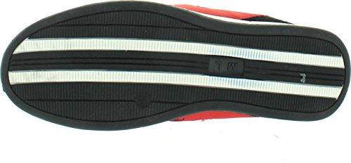 Miko Lotti 6a96-8 Mens Scarpe Stringate Leggere In Rosso