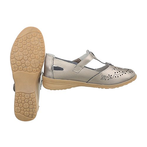 zeppa donna Zeppa Bronze Scarpe Design Scarpe da Ital 5012 tacco col XwZ4w