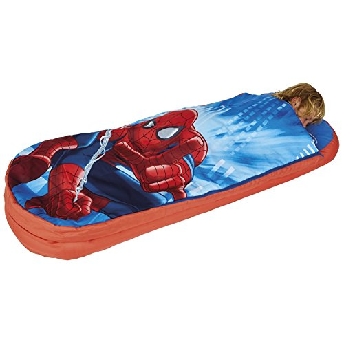 Spiderman All In One Sleepover Bed - Airbed and Sleeping Bag