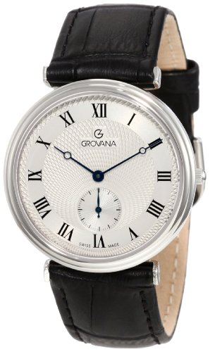 Grovana Men's 1276.1538 Retrograde Analog Silver Watch